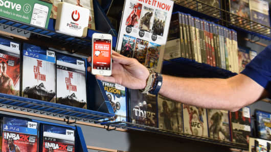 GameStop's new beacon technology, which is powered by Shelfbucks.