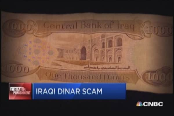 $24 million Iraqi currency scam