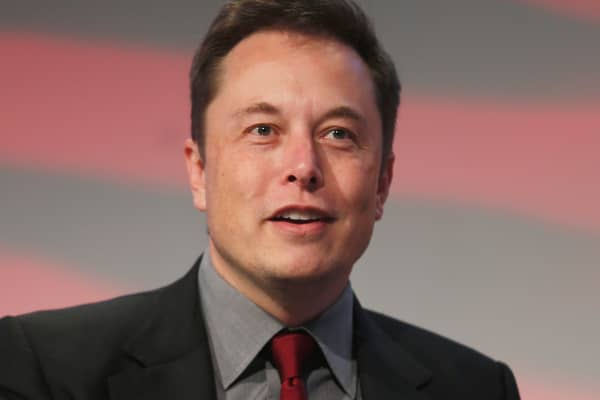 Tesla Motors CEO Elon Musk speaking in Detroit, January 13, 2015.