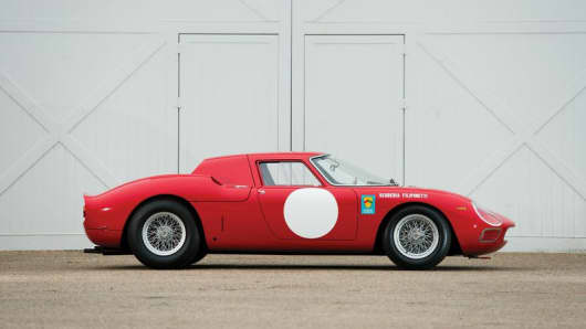 A 1964 Ferrari 250 LM Coupe sold at auction this weekend for $9.62M.