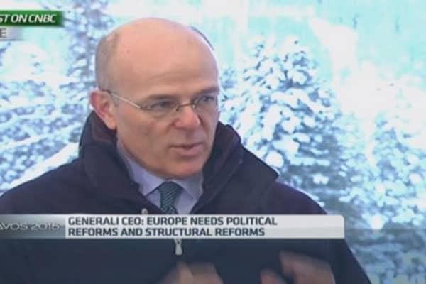 Politics must follow ECB QE or it'll be 'useless': Generali CEO