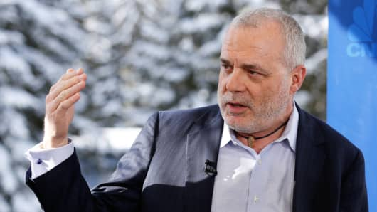 Mark Bertolini, CEO of Aetna at 2015 WEF in Davos, Switzerland.