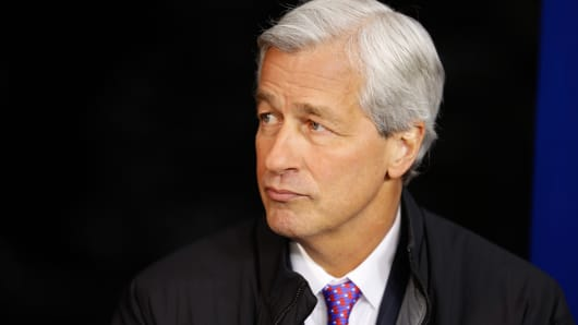 Jamie Dimon, chief executive officer of JPMorgan Chase, at 2015 WEF in Davos, Switzerland.