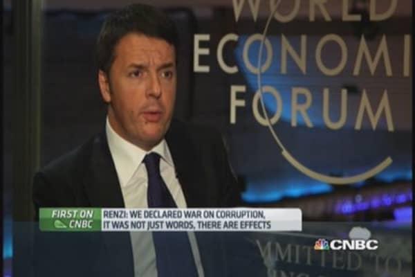 Italian PM: We declared a war on corruption
