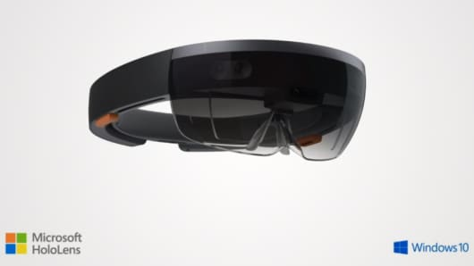Microsoft unveils HoloLens in Redmond, Washington on Jan. 21, 2015.