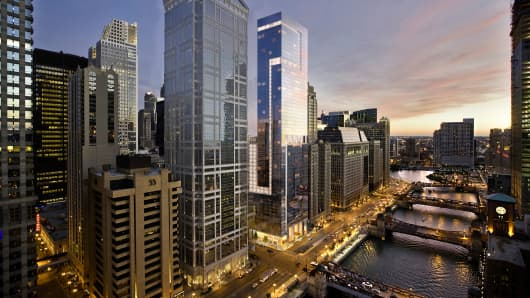The 60-story luxury tower in Chicago at 111 W. Wacker Drive sold for $328 million last week