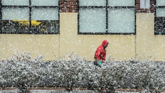 Winter weather snow