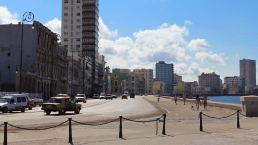The promenade in Havana, Cuba.
