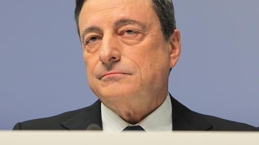 Mario Draghi, head of the European Central Bank