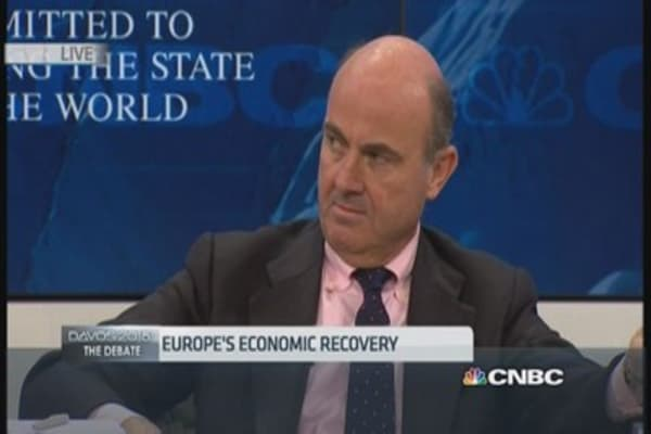 Deflation is like cholesterol, we have the good kind: Spanish Fin Min