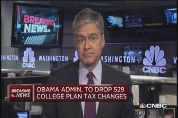 Obama drops 529 tax plan