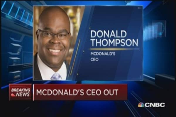 McDonald's CEO out