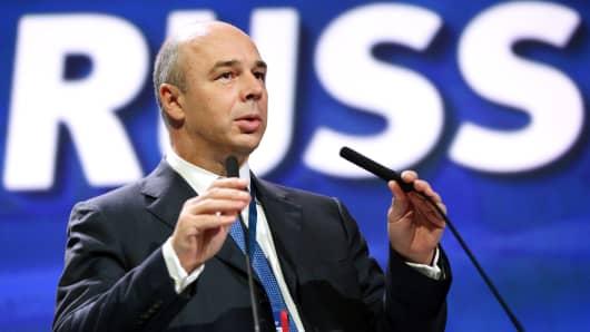 Anton Siluanov, Russia's finance minister,