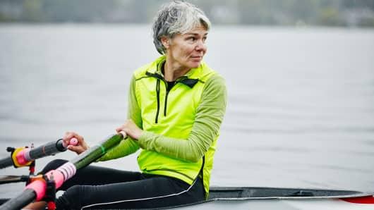 Retirement boomer woman