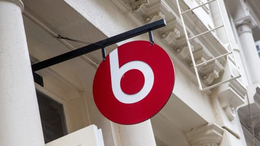 The Beats headphone store in the SoHo neighborhood of New York City.