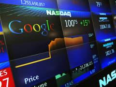 Google stock priced displayed at Nasdaq