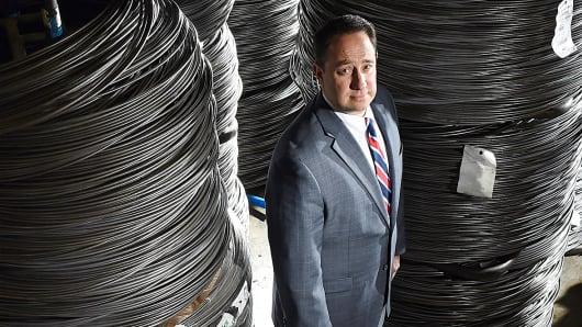 Marlin Steel's Drew Greenblatt is shown in Baltimore, Dec. 10, 2014.