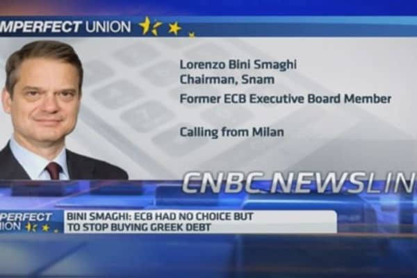 ECB had no other choice: Bini Smaghi