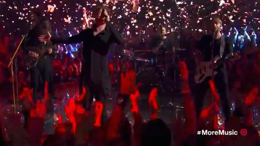 Imagine Dragons perform at the Grammy's.