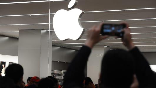 An Apple Store in Tianjin, China.