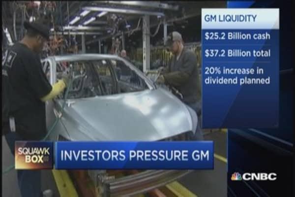 Investors pressure GM
