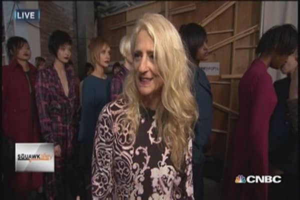 Nanette Lepore backstage at NY Fashion Week