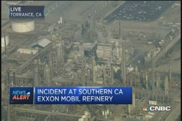 Incident at Exxon Mobil refinery in Torrance, CA