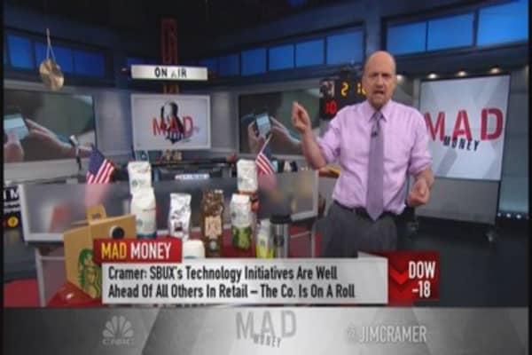 Don't trade Starbucks, own it: Cramer