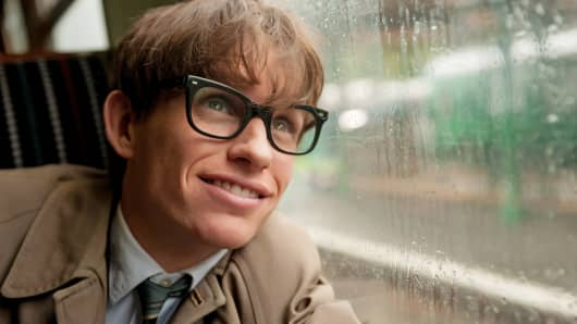 "Eddie Redmayne stars as Stephen Hawking in a scene from ""The Theory of Everything."""