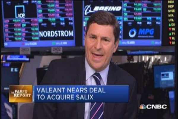 Faber Report: Valeant close to buying Salix