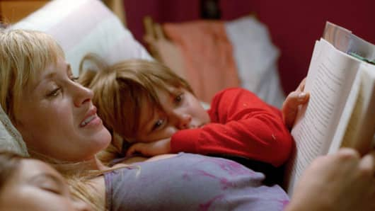 "Patricia Arquette and Ellar Coltrane are shown in a scene from the film, ""Boyhood."""
