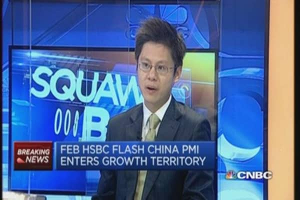 Don't cheer surprise upside in China flash PMI: HSBC