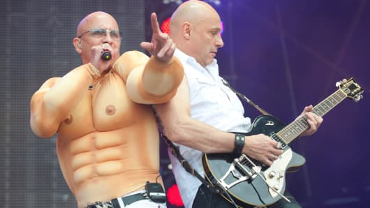 Richard Fairbrass and Fred Fairbrass of Right Said Fred