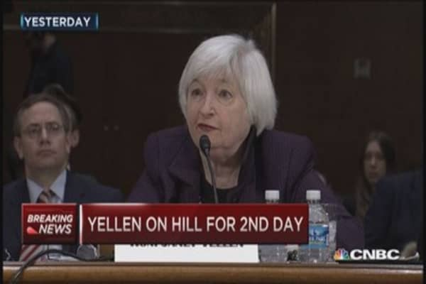Day two of Yellen testimony