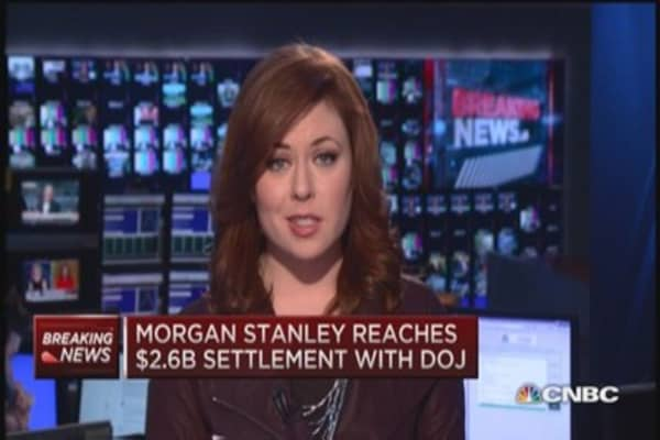 Morgan Stanley reaches $2.6 billion settlement