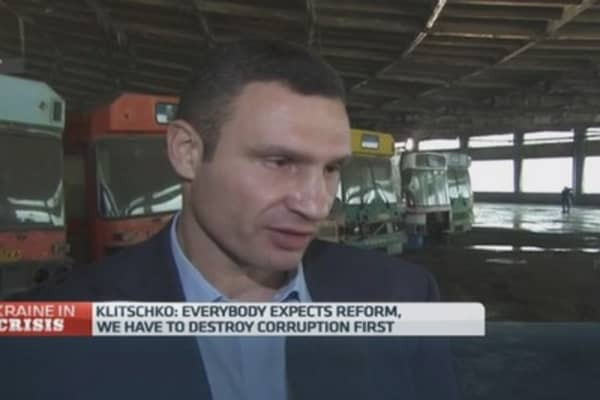 We must 'destroy corruption' in Ukraine: Klitschko