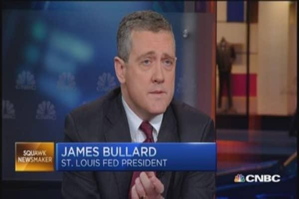James Bullard: Unemployment below 5% by second half of year