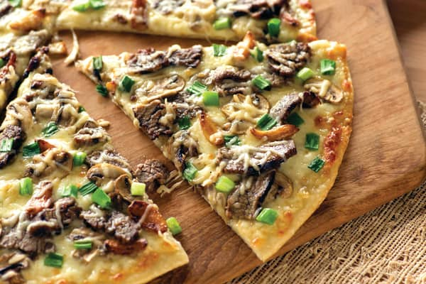 Papa Murphy's Steak Delight pizza.