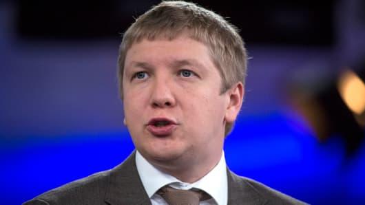 Andriy Kobolyev, chief executive officer of Naftogaz