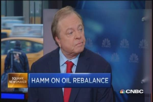 Crude slipping, rig count falls: Hamm