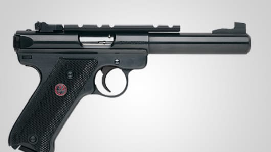 The Ruger Mark III Target Rimfire Pistol.
