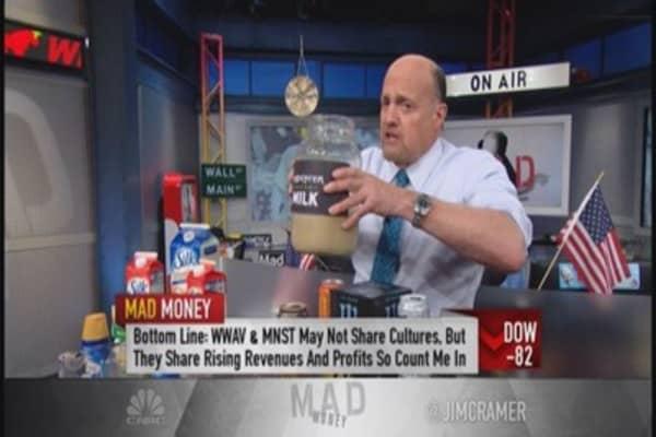 Cramer: WWAV & MNST can still be bought