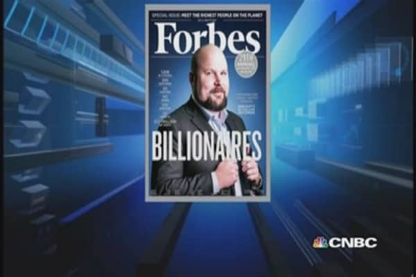 Who's in Forbes' top billionaires list?