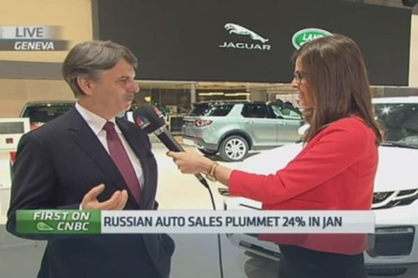 Jaguar Land Rover CEO sees Russia recovery