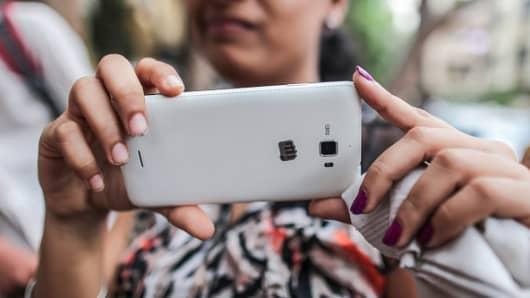 A Micromax smartphone