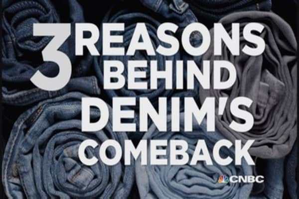Three reasons behind denim's comeback