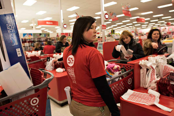 An employee in a Target store.