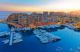 Monaco Harbor on the French Riviera.