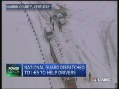 Hundreds of drivers stranded