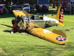 Harrison Ford hospitilzed after crash landing